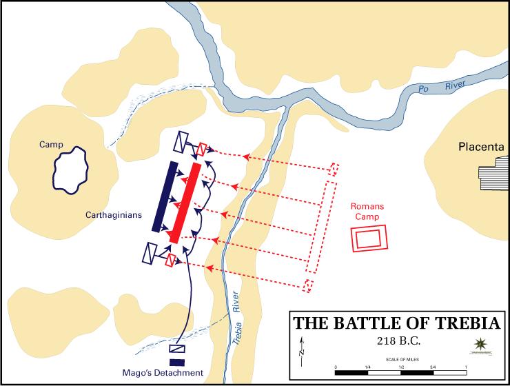 Schlacht an der Trebia Karte