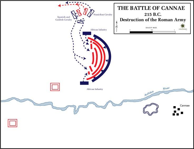 Schlacht bei Cannae Karte