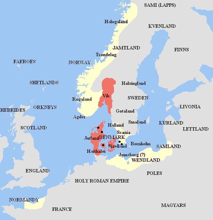 Harald Blauzahn Reich Karte