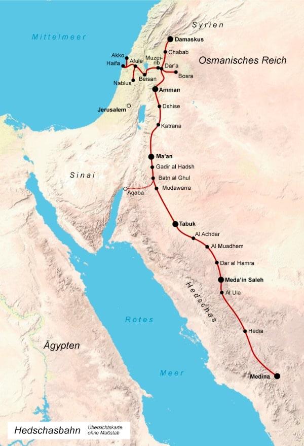 Hedschasbahn Karte