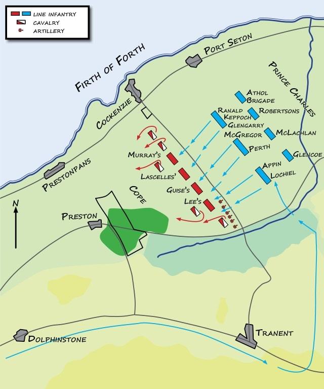 Schlacht von Prestonpans Verlauf