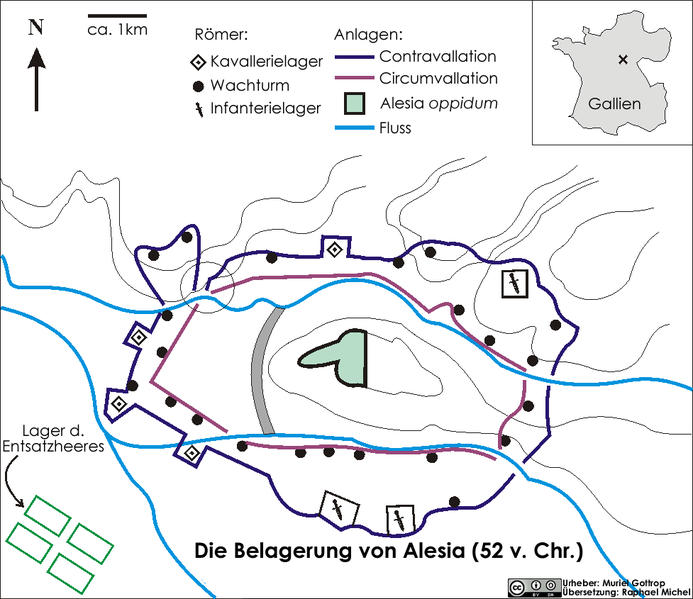 Belagerung von Alesia Karte