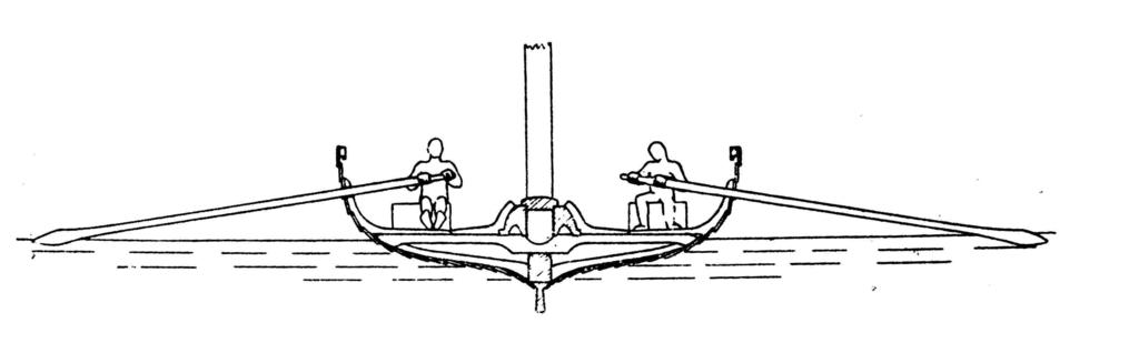 Wikingerschiff Querschnitt Zeichnung