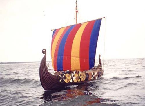 Wikingerschiff Segel