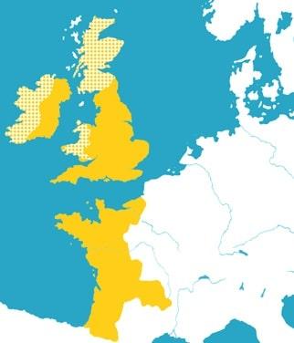 Angevinisches Reich Karte
