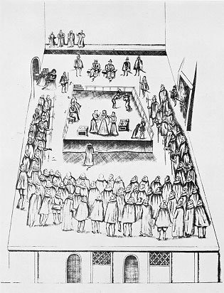 Maria Stuart Hinrichtung Zeichnung