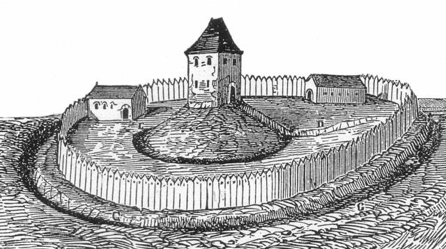Motte Turmhügelburg Darstellung
