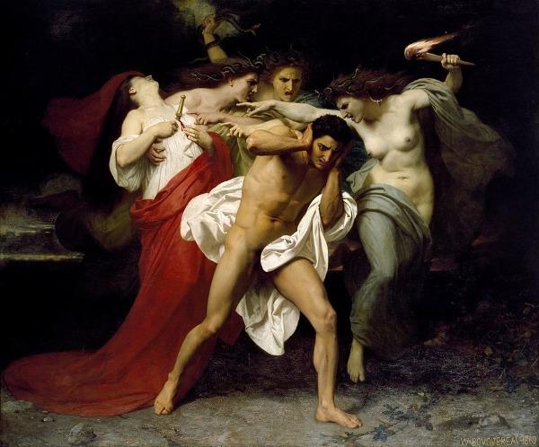 Orestes und die drei Furien