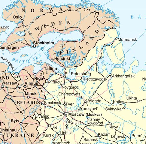 Archangelsk Karte