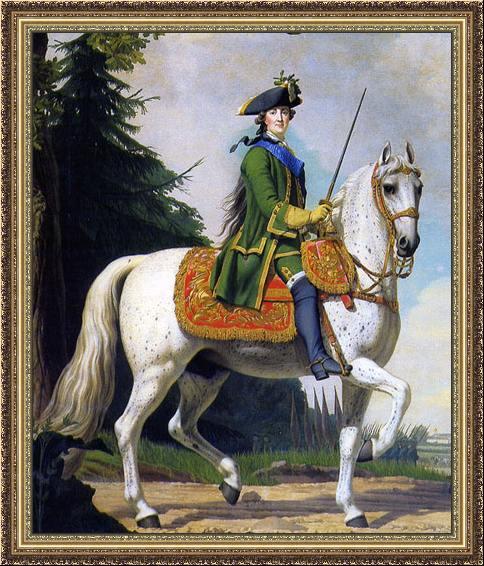 Katharina die Große in Uniform