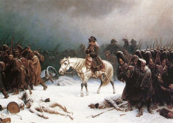 Napoleons Rückzug Gemälde